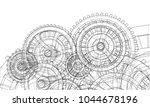 gearbox sketch. vector...   Shutterstock .eps vector #1044678196