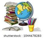 back to school. set of vector... | Shutterstock .eps vector #1044678283