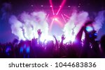 happy people dance in nightclub ... | Shutterstock . vector #1044683836