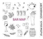 set of vector food elements....   Shutterstock .eps vector #1044684289