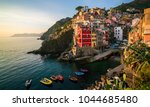 riomaggiore of cinque terre ... | Shutterstock . vector #1044685480