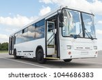 white airport bus  close up | Shutterstock . vector #1044686383