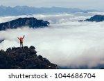 successful hiker in the... | Shutterstock . vector #1044686704