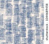 indigo vector tie dye seamless... | Shutterstock .eps vector #1044689458