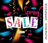 spring sale banner template... | Shutterstock .eps vector #1044692116