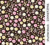 ditsy floral seamless pattern... | Shutterstock .eps vector #1044693946