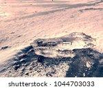 melting ice crystals and... | Shutterstock . vector #1044703033