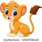 cute baby lion cartoon  | Shutterstock . vector #1044708160