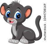 cute baby panther cartoon    Shutterstock .eps vector #1044708169