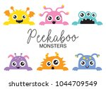 Set Of Cute Peekaboo Monsters...