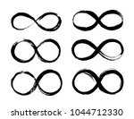 set of infinity symbol. eternal ... | Shutterstock .eps vector #1044712330