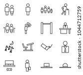 flat vector icon set   man and... | Shutterstock .eps vector #1044712759