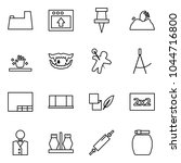 flat vector icon set   potty... | Shutterstock .eps vector #1044716800