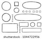 set of hand drawn elements for... | Shutterstock .eps vector #1044722956