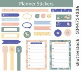 stickers for organized your...   Shutterstock .eps vector #1044724336