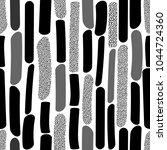 seamless monochrome repeating... | Shutterstock .eps vector #1044724360