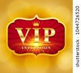 luxury vip invitation on label  ...   Shutterstock .eps vector #1044726520