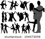 dancing people | Shutterstock .eps vector #104473058