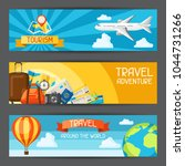 travel banners. traveling... | Shutterstock .eps vector #1044731266