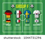 soccer cup 2018 team group f .... | Shutterstock .eps vector #1044731296