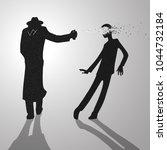 poisoning by lethal vx nerve... | Shutterstock .eps vector #1044732184