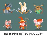 animal fantasy rpg game heroes... | Shutterstock .eps vector #1044732259