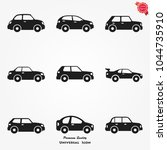 car icons vector | Shutterstock .eps vector #1044735910