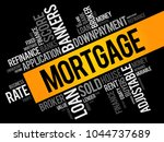 mortgage word cloud collage ... | Shutterstock .eps vector #1044737689
