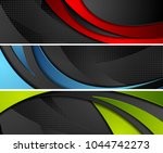 bright abstract corporate wavy... | Shutterstock .eps vector #1044742273