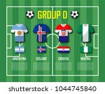 soccer cup 2018 team group d .... | Shutterstock .eps vector #1044745840