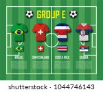 soccer cup 2018 team group e .... | Shutterstock .eps vector #1044746143
