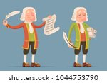 peruke wig scroll writing... | Shutterstock .eps vector #1044753790