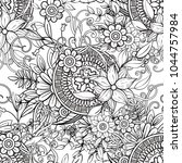floral seamless pattern in...   Shutterstock .eps vector #1044757984