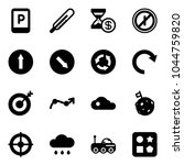 solid vector icon set   parking ... | Shutterstock .eps vector #1044759820