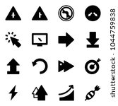 solid vector icon set  ... | Shutterstock .eps vector #1044759838
