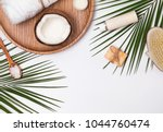 body care producs  coconut and...   Shutterstock . vector #1044760474