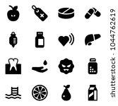 solid vector icon set   apple... | Shutterstock .eps vector #1044762619