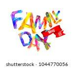 family day. may 15. triangular... | Shutterstock .eps vector #1044770056