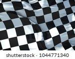 checkered flag  end race... | Shutterstock . vector #1044771340