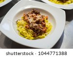 pasta with red sauce | Shutterstock . vector #1044771388