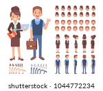 front  side  back view animated ... | Shutterstock .eps vector #1044772234