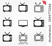 tv icons vector | Shutterstock .eps vector #1044773266