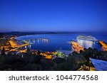 "Small photo of ELIS (""ILIA""), PELOPONNESE, GREECE- October 20, 2014. Panoramic view of the port of Katakolo town."
