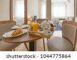 room service  breakfast served  ... | Shutterstock . vector #1044775864
