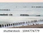 long exposure  blurred waves ... | Shutterstock . vector #1044776779
