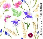 floral seamless pattern ... | Shutterstock .eps vector #1044781873