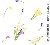 floral seamless pattern ... | Shutterstock .eps vector #1044781876