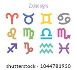 colorful zodiac signs.... | Shutterstock .eps vector #1044781930