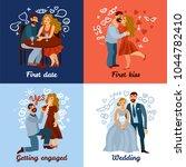 developing love relations... | Shutterstock .eps vector #1044782410
