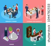 catering service concept 4... | Shutterstock .eps vector #1044782533